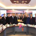 a delegation from Jiangsu Provincial Sports Bureau came to Thailand to visit TCPPRC
